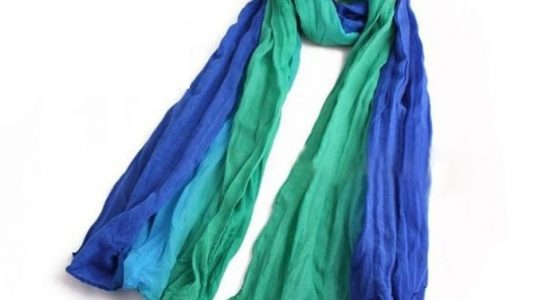 Turquoise and Blue Women's Scarf