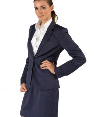 Womens tailored suit with skirt