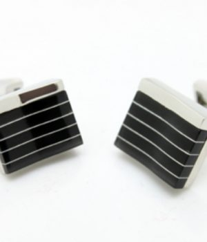 Black Piano Stripe Cufflinks