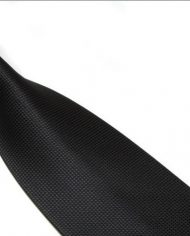 Black Lattice Silk Tie