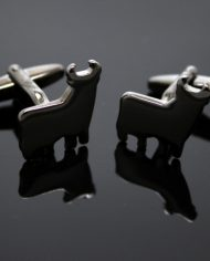 Gun Metal Bull Cufflinks