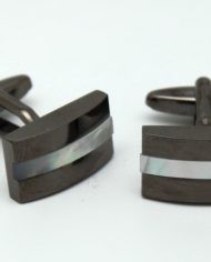 Gunmetal Pearl Strip Cufflinks