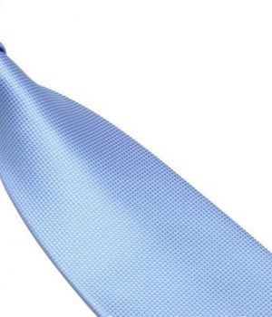 Light blue Lattice Silk Tie