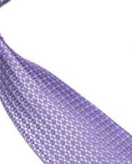 Quality Pure Silk Tie – Lilac Diamonds