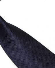Navy Lattice Silk Tie