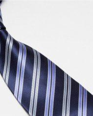 Navy Light Stripes Tie