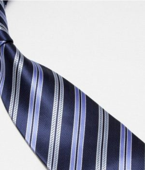 Navy Light Stripes Tie