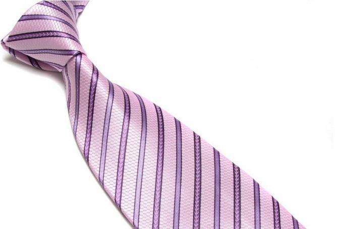 Quality Pure Silk Tie – Pink & Purple Stripes