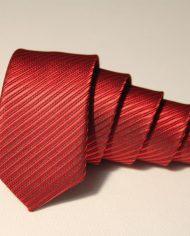 Red  narrow tie