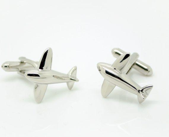 Silver Aeroplane Cufflinks