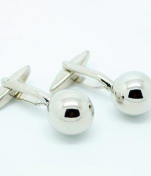 Silver Cannon Ball Cufflinks