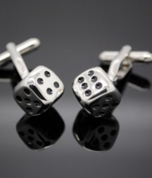 Silver Dice Cufflinks