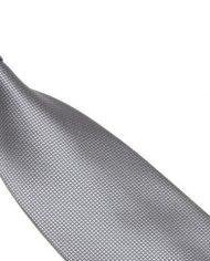 Silver Lattice Silk Tie