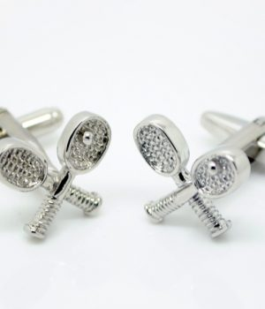 Tennis Racquet Cufflinks
